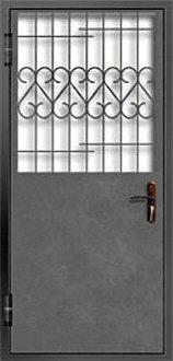 Тамбурная дверь с решеткой №1